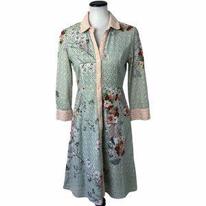 Varun Bahl Anthropologie Eyelet Floral Dress #160